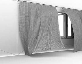 Animated Curtain 3D model