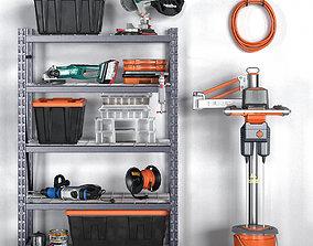 3D model garage tools set 13