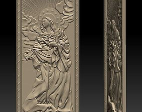 3D print model Virgin Mary - relief icon - 2017