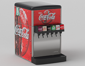 3D 6-Flavor Counter Electric Soda Fountain