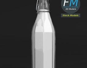 3D model Milk bottle with bracket closure