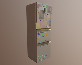 Refrigerator 3D model low-poly cold