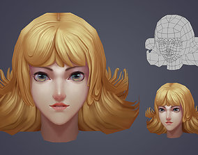 VR / AR ready 3D game handpainted female head