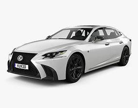 3D Lexus LS XF50 F Sport 2018