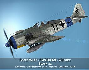 Focke Wulf - FW190 A8 - Black11 3D model