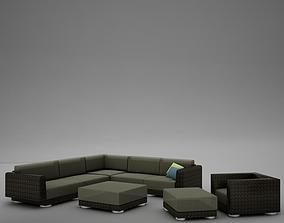 sofa patio 4 3D model