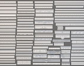 3D model Cornice Collection -1 - 99 pieces crown