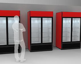 3D Double Door Cooler - Drinks Fridge Medium Size