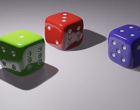 3D Simple Dice model realtime