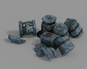 Asura Celestial Realm-Broken Pillar 3D model