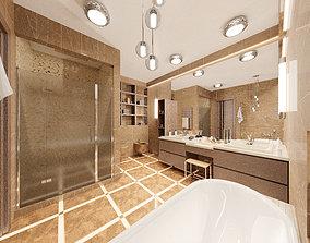 Modern Bathroom 3D model realtime