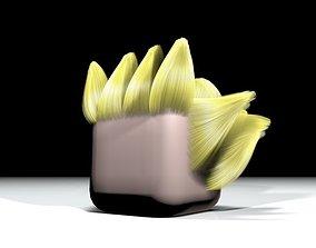 3D asset Minecraft Goku Hair