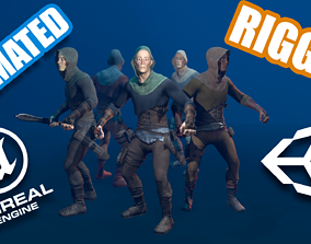 3D asset Male Robber