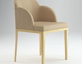 Light Wooden Italian Style Chair 3D