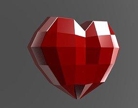 Heart low poly 3D asset
