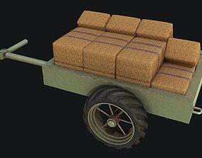 WW2Trailer with Hay PBR 3D model