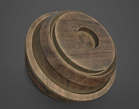 3D Dusty Wooden Planks Substance Painter Smart Material