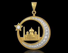 Muslim mosque pendant 3D print model