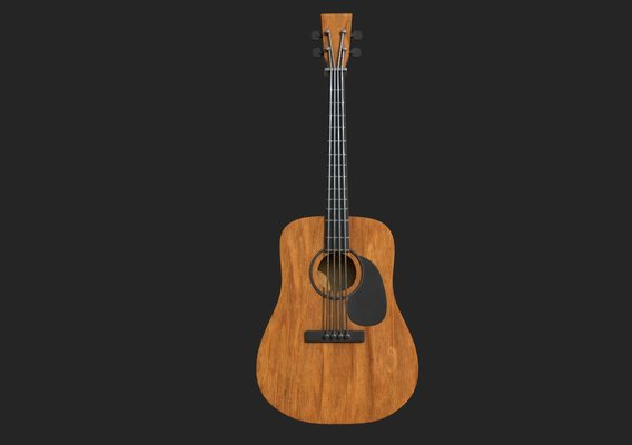 Guitar dark oak wood
