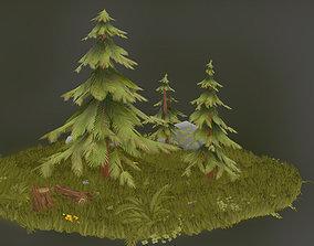 Stylized Forest Set 3D model