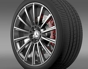 AMG Mercedes Benz S 350 wheel 3D model