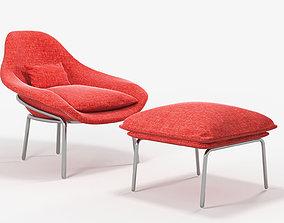 West elm rowan chair 3D model west