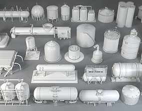 3D model Industrial Tanks - 29 pieces
