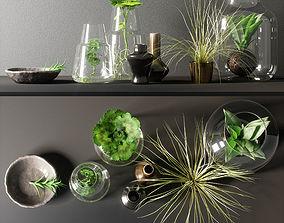 3D model decorative set glass