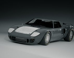 Ford GT 40 with Carbon Body 3D model