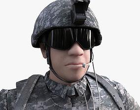 3D Rigged US marine