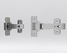 3D Cabinet hinge with mounting plate and screws