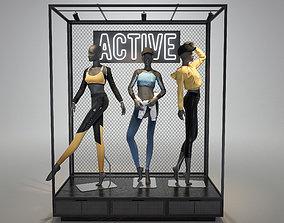 Sportswear female mannequin 3D