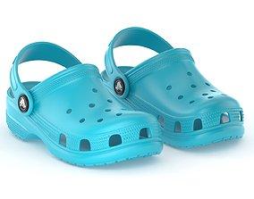 3D model Crocs Classic Clog Digital Aqua