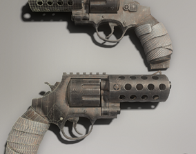 3D model Revolver Old and Dirt