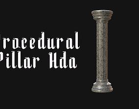 Procedural pillar column generator Hda 3D model realtime