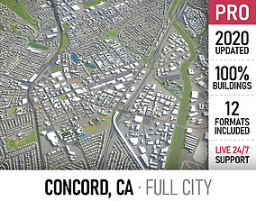 3D asset Concord - California - city and surroundings