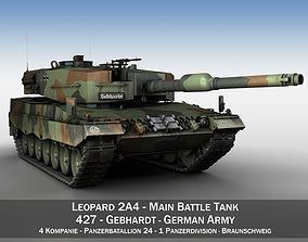 Leopard 2A4 Main Battle Tank - 427 3D model
