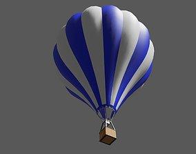 Blue Balloon Striped - Balao Azul Listrado 3D asset