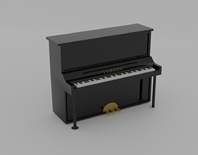 Upright Piano 3D