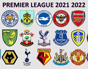 Premier League 2021 2022 Logos 3D