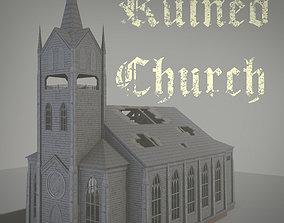 Ruined Church 3D asset