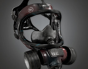 Gas Mask BHE - PBR Game Ready 3D model game-ready