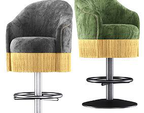 Amanda velour bar stool 3D