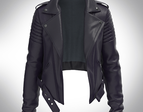 Leather Biker Jacket for CLO 3d and Marvelous