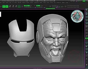 3D printable model Punisher Warmachine head custom 6
