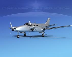 Beechcraft C-6 Transport Bare Metal 3D model
