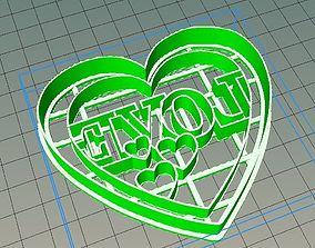 3D print model cookiecutters Love