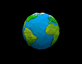 Planet Earth 3D asset game-ready