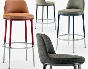 Maxalto Caratos stool set 3D
