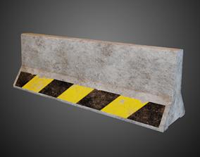 3D asset Lowpoly Pbr Concrete Barrier